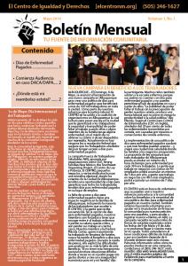 Boletín Mensual mayo 2016 - Fuente de Información Comunitaria
