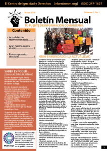 Fotografía de presentación para el Boletín Mensual de Marzo 2016.