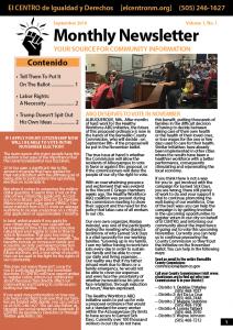 Monthly Newsletter September 2016 - Source for Community Information